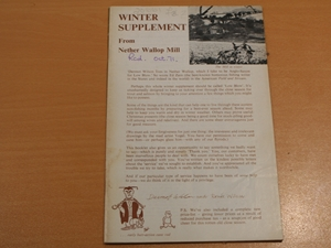 Dermot Wilson Fishing Tackle, Winter Supplement for Nether Wallop Mill 1971